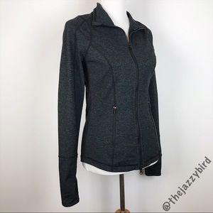 Zella Dark Grey Space Dye Full Zip Running Jacket